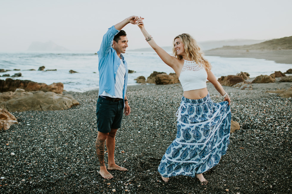 Engagement photos in Marbella