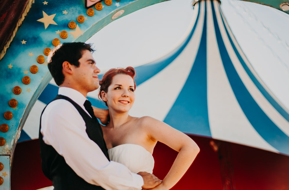 wedding at the circus