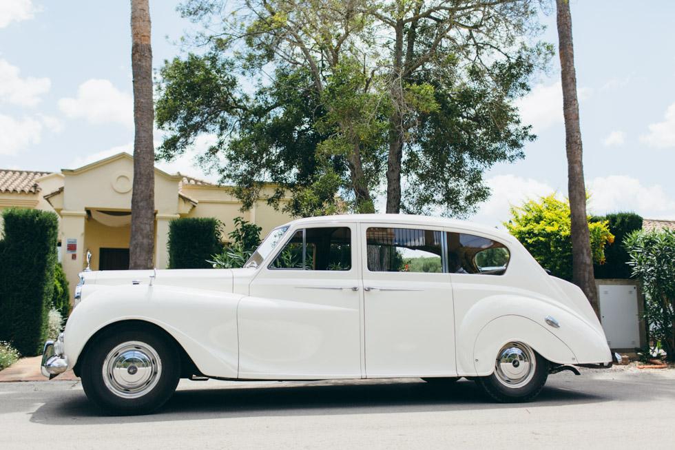 coche para boda en Sotogrande